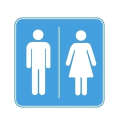 Men and women toilet WC sign on white vector