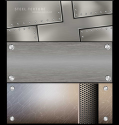 Metall steel banner for facebook design vector