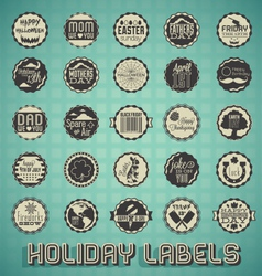 mix holiday labels and icons vector image