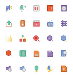 Multimedia Colored Icons 9 vector image