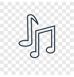 musical note concept linear icon isolated on vector image