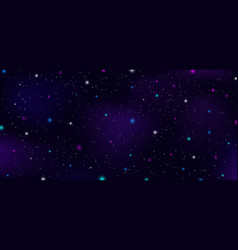 night sky outer space stars nebula constellation vector image