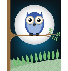 owl full moon vector image