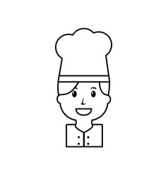 portrait chef woman occupation worker vector image
