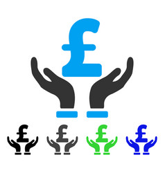 Pound insurance hands flat icon vector