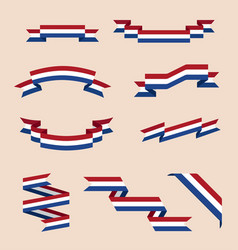 ribbons or banners in colors of netherlands flag vector image