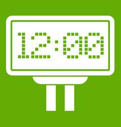 Scoreboard icon green vector