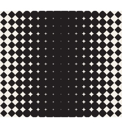 Seamless Black and White Morphing Star vector image