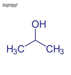Skeletal formula isopropyl antimicrobial vector