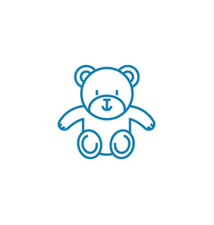 Soft toy linear icon concept soft toy line vector