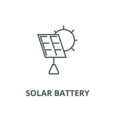 Solar battery line icon linear concept vector