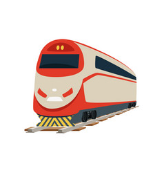 Speed modern railway train locomotive vector