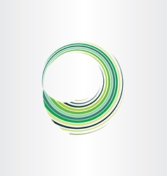 Spring green wave circle abstract background vector