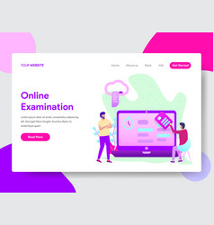 student online examination concept vector image