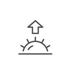 Sunrise line icon vector