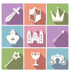 Tale icon set vector image