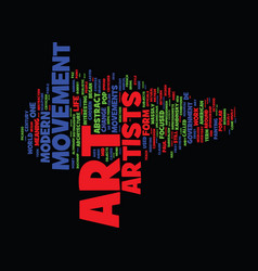 The modern art movements text background word vector