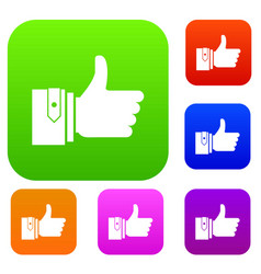 Thumbs up set collection vector
