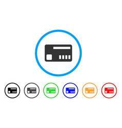 ticket rounded icon vector image