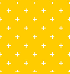 Tile cross plus yellow and white pattern vector