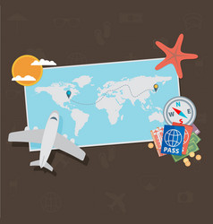 travel background flat vector image