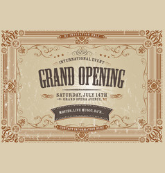 Vintage horizontal invitation background vector
