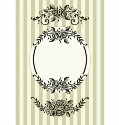 vintage rose frame vector image vector image