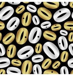 wedding rings pattern eps10 vector image