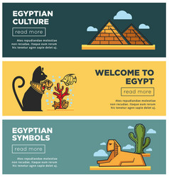 Welcome to egypt promotional internet posters vector