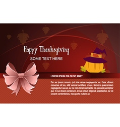 With thanksgiving and pumpkin vector