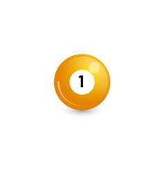 Yellow billiard ball number 1 vector