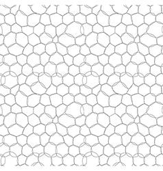 Abstract circle bubbles seamless pattern vector image vector image