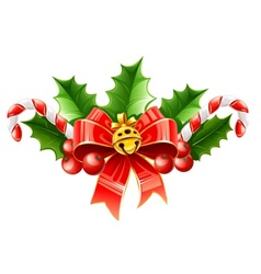 christmas decoration of red vector image