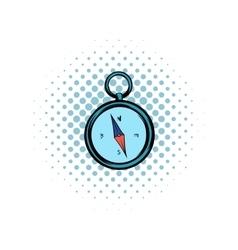 Compass comics icon vector image
