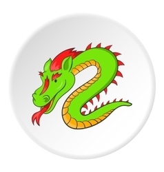 Dragon icon cartoon style vector
