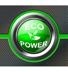 green power button vector image