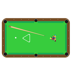 table pool billiard sport cue ball smooker vector image