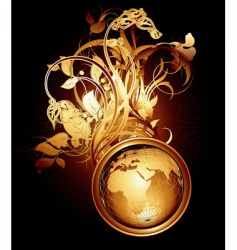 world floral vector image vector image