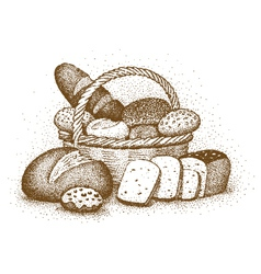 Bakery products drawn by hand vector image vector image