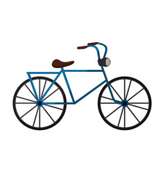 blue bicycle icon vector image