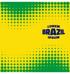 Halftone Background using Brazil flag colors vector image vector image