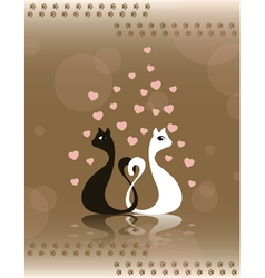 pair loving cats vector image vector image