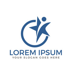 star and winner logo design vector image