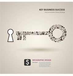 A keys with icons of business as a background vector