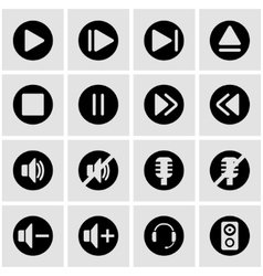 black sound icon set vector image