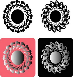 Floral element 3 vector image vector image