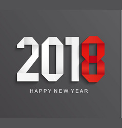 new 2018 year greeting card vector image vector image