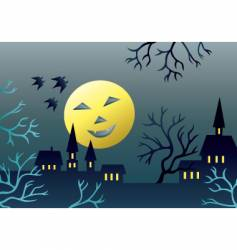 scary landscape vector image vector image