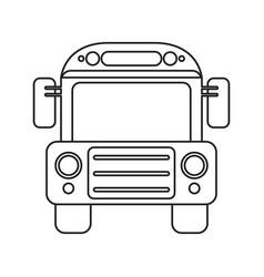 School bus transport design thin line vector