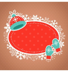 Cute winter invitation xmas card vector image